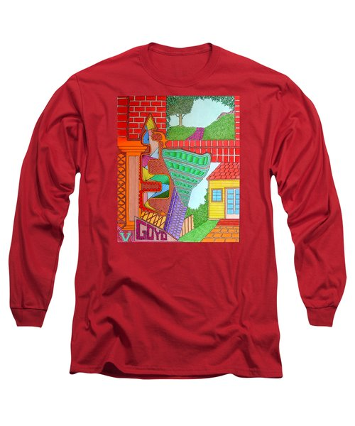 Slanted Long Sleeve T-Shirt