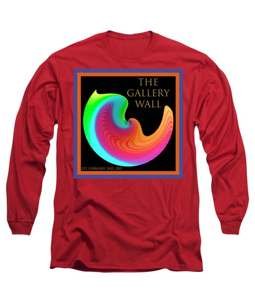 Long Sleeve T-Shirt featuring the photograph Slinky Dove Of Peace-the Gallery Wall Logo by Wendy Wilton
