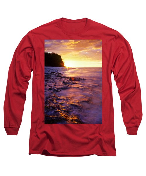 Slow Ocean Sunset Long Sleeve T-Shirt