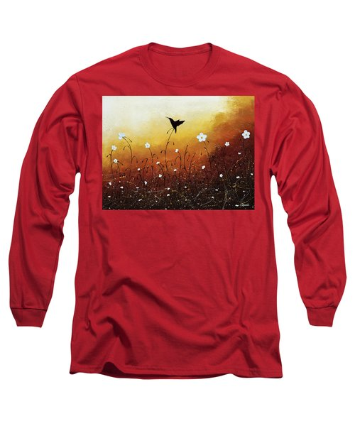Long Sleeve T-Shirt featuring the painting Small Treasure by Carmen Guedez