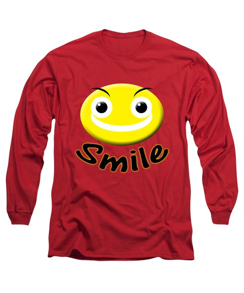 Smile T-shirt Long Sleeve T-Shirt by Isam Awad