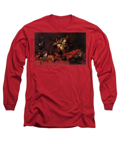 Snyders Frans Still Life With A Basket Of Fruit Long Sleeve T-Shirt by Frans Snyders