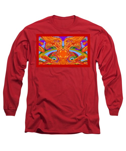 So Hot It Will Burn Your Face Off Art And Text Long Sleeve T-Shirt