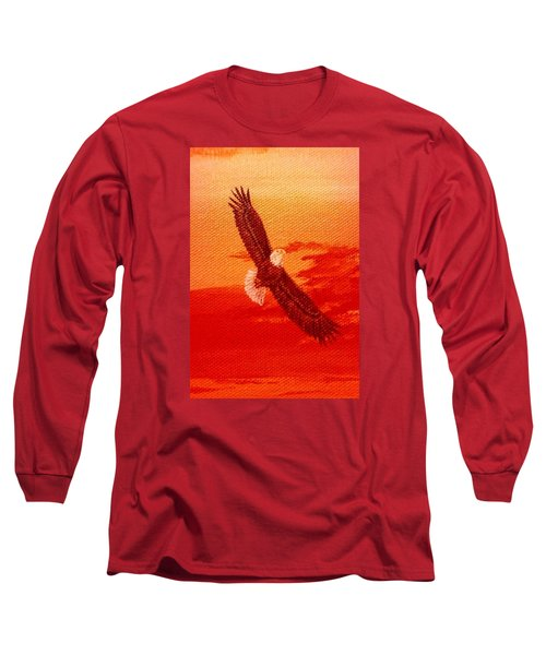 Long Sleeve T-Shirt featuring the painting Soaring by Katherine Young-Beck