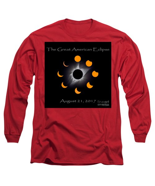 Solar Eclipse Stages Long Sleeve T-Shirt