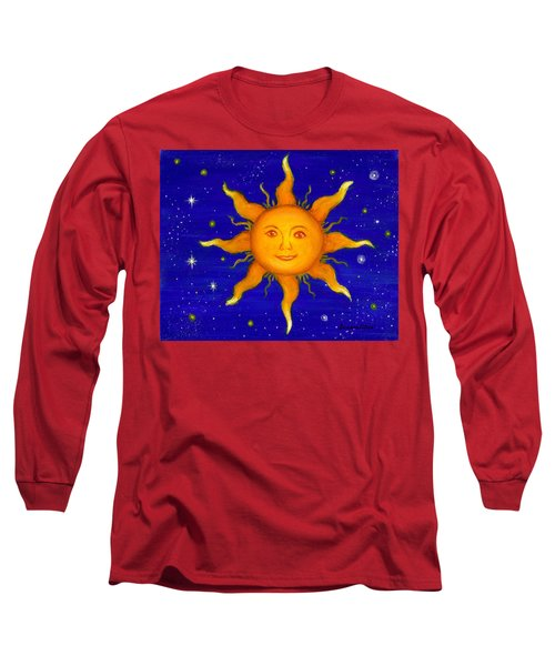 Long Sleeve T-Shirt featuring the painting Soleil by Sandra Estes