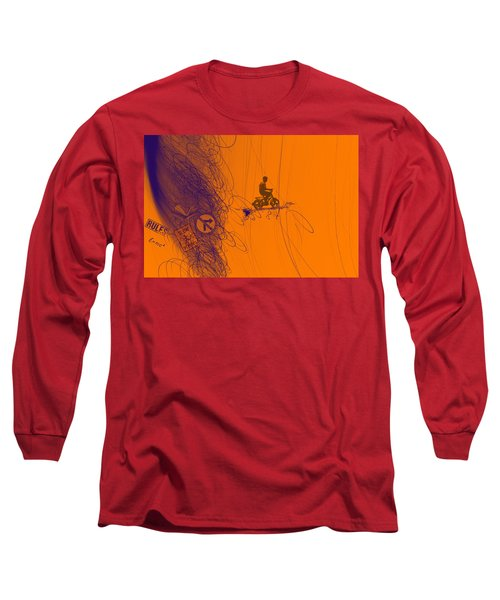 Long Sleeve T-Shirt featuring the digital art Somewhere Else by Bliss Of Art