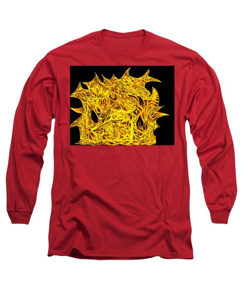 Long Sleeve T-Shirt featuring the drawing Sour Desire by Jamie Lynn