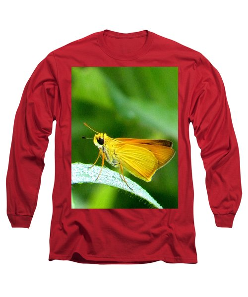 Southern Skipperling Butterfly 001  Long Sleeve T-Shirt by Chris Mercer