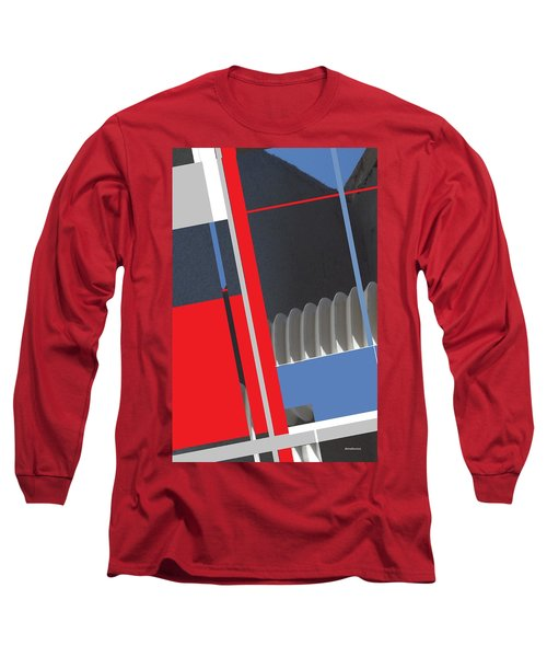 Long Sleeve T-Shirt featuring the mixed media Spaceframe 2 by Andrew Drozdowicz