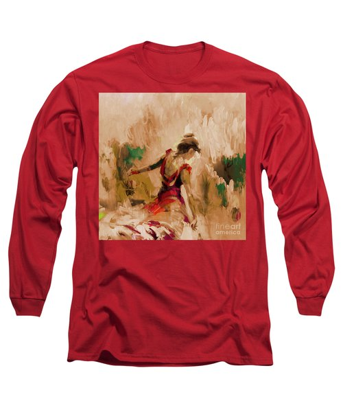 Long Sleeve T-Shirt featuring the painting Spanish Dance Culture  by Gull G