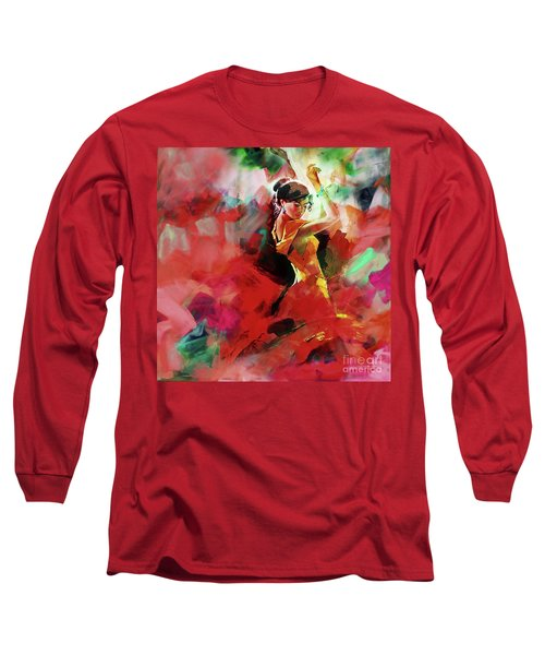 Long Sleeve T-Shirt featuring the painting Spanish Dance by Gull G