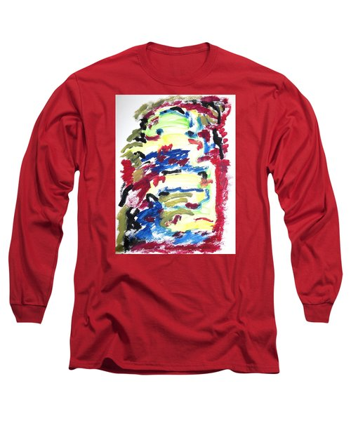 Long Sleeve T-Shirt featuring the painting Spatial Outwardness by Esther Newman-Cohen