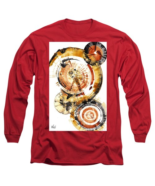 Long Sleeve T-Shirt featuring the painting Sphere Series 1020.050112 by Kris Haas