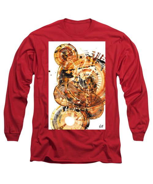 Long Sleeve T-Shirt featuring the painting Sphere Series 1021.050212 by Kris Haas