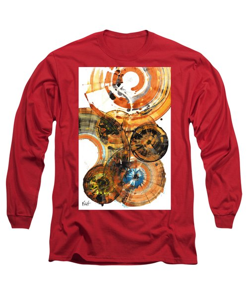 Long Sleeve T-Shirt featuring the painting Sphere Series 1024.050312 by Kris Haas