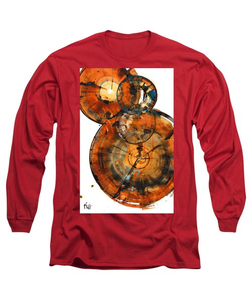 Long Sleeve T-Shirt featuring the painting Sphere Series 1027.050412 by Kris Haas