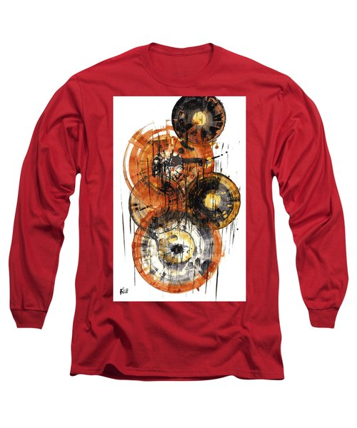 Long Sleeve T-Shirt featuring the painting Sphere Series 1028.050412 by Kris Haas