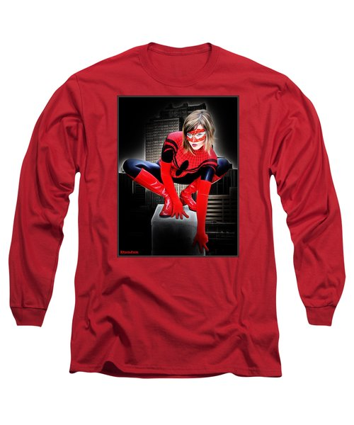 Spiderilla At Night Long Sleeve T-Shirt