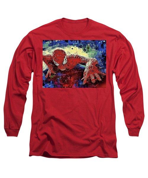 Spiderman Climbing  Long Sleeve T-Shirt