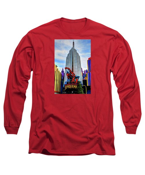 Long Sleeve T-Shirt featuring the photograph Spiderman by Tom Prendergast