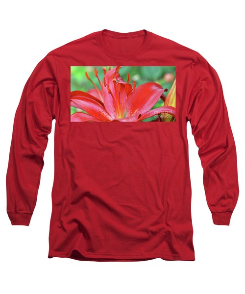 Spinning For Dinner Long Sleeve T-Shirt by Debby Pueschel