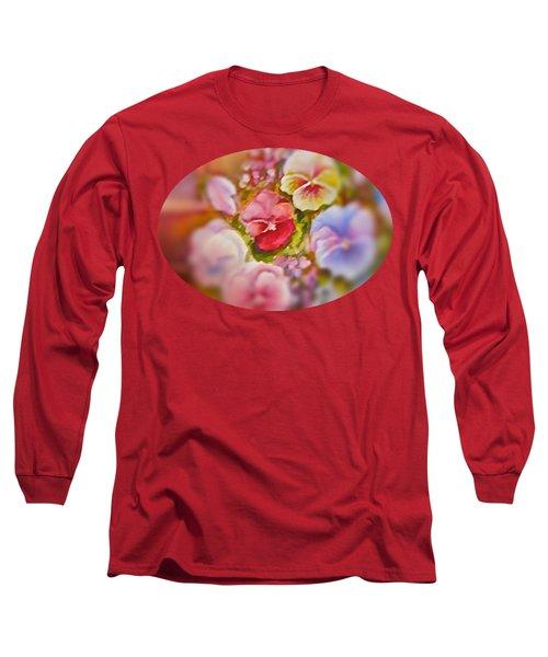 Spirit Petals Long Sleeve T-Shirt by Patricia Schneider Mitchell