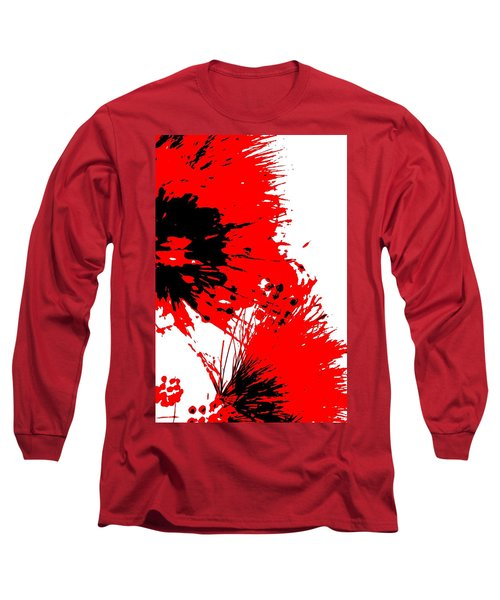 Splatter Black White And Red Series Long Sleeve T-Shirt