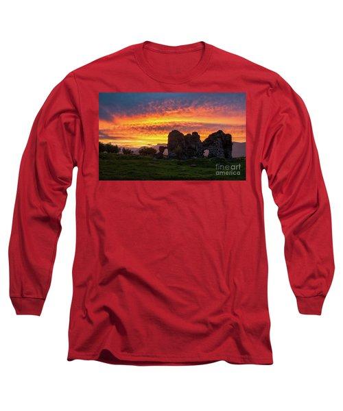 Splendid Ruins Of Tormak Church During Gorgeous Sunset, Armenia Long Sleeve T-Shirt