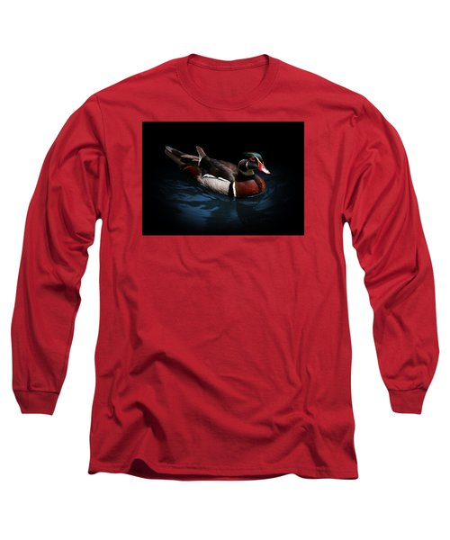 Spotlight On A Wood Duck Long Sleeve T-Shirt