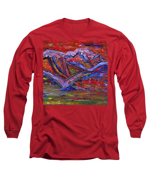 Long Sleeve T-Shirt featuring the painting Spread Your Wings by Vadim Levin