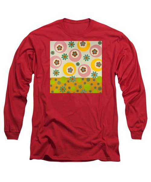 Long Sleeve T-Shirt featuring the mixed media Spring Delight by Gloria Rothrock