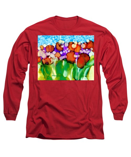 Long Sleeve T-Shirt featuring the painting Spring In Charleston by Yolanda Koh