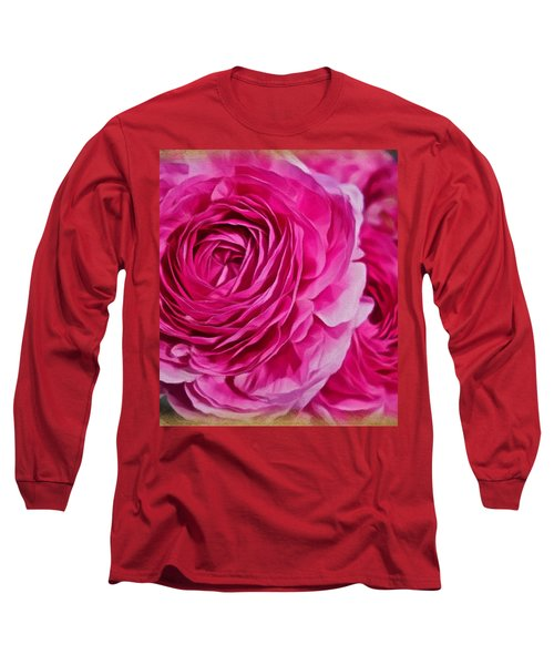 Spring Pink Roses Long Sleeve T-Shirt