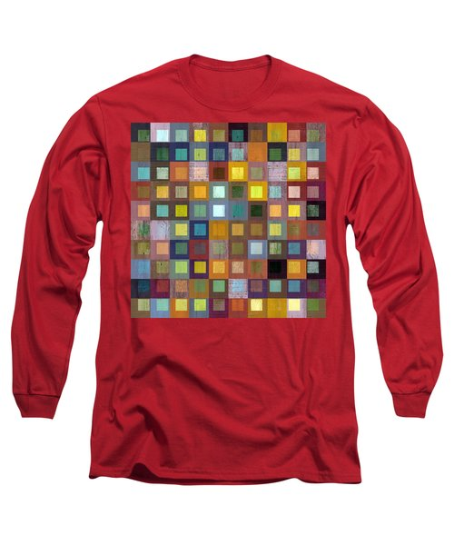 Squares In Squares One Long Sleeve T-Shirt by Michelle Calkins