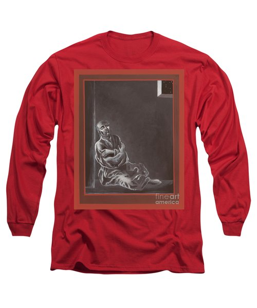 Long Sleeve T-Shirt featuring the painting  St John Of The Cross In The Dark Night Of The Soul 290 by William Hart McNichols