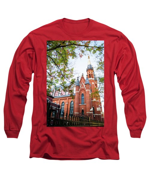 Long Sleeve T-Shirt featuring the photograph St Paul's Cathedral In Downtown Birmingham by Shelby Young