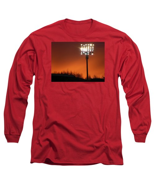 Stadium Lights Long Sleeve T-Shirt by RKAB Works