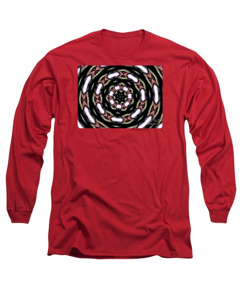Long Sleeve T-Shirt featuring the photograph Stained Glass Kaleidoscope 12 by Rose Santuci-Sofranko