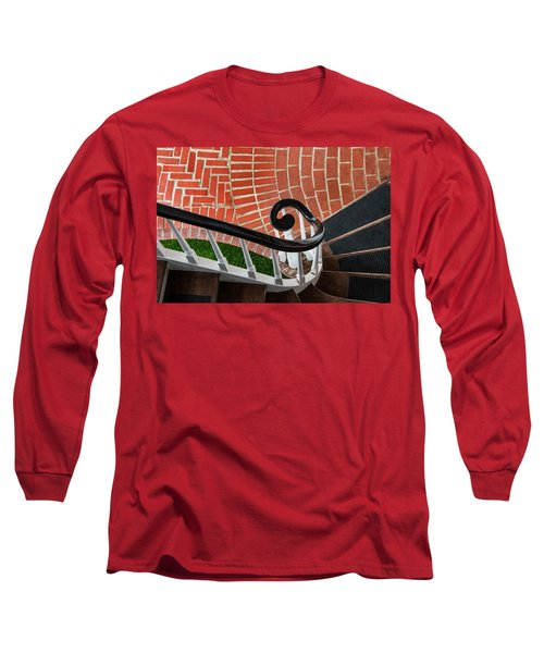 Staircase To The Plaza Long Sleeve T-Shirt by Gary Slawsky