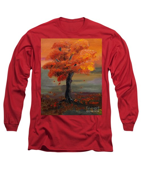 Stand Alone In Color - Autumn - Tree Long Sleeve T-Shirt