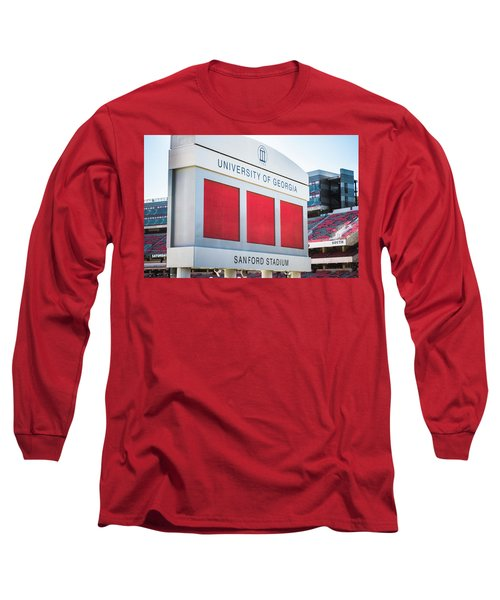 Long Sleeve T-Shirt featuring the photograph Standing Tall Over Sanford Stadium  by Parker Cunningham