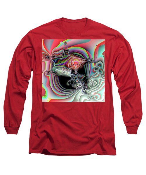 Long Sleeve T-Shirt featuring the digital art Star Defomation by Ron Bissett