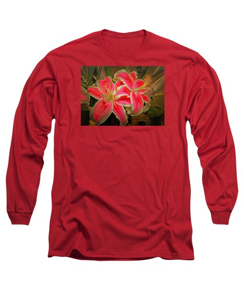 Star Gazer Lilies Long Sleeve T-Shirt