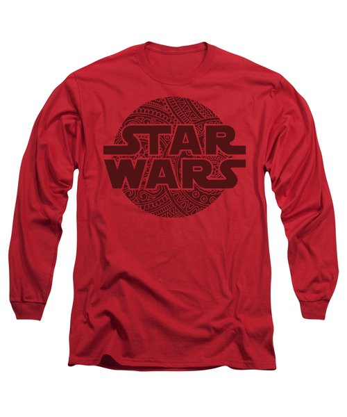 Star Wars Art - Logo - Red 02 Long Sleeve T-Shirt