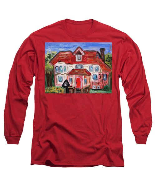 Long Sleeve T-Shirt featuring the painting Stately City House by Mary Carol Williams