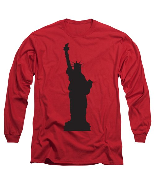 Statue Of Liberty Red Long Sleeve T-Shirt