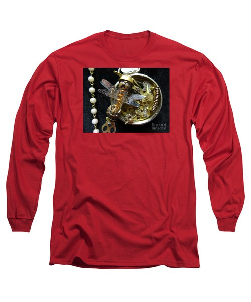 Steampunk Dragonfly Pylon Long Sleeve T-Shirt by Justin Moore