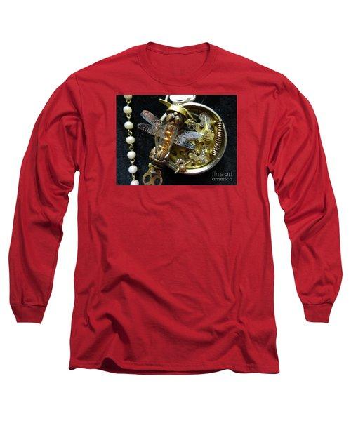 Steampunk Dragonfly Pylon Long Sleeve T-Shirt