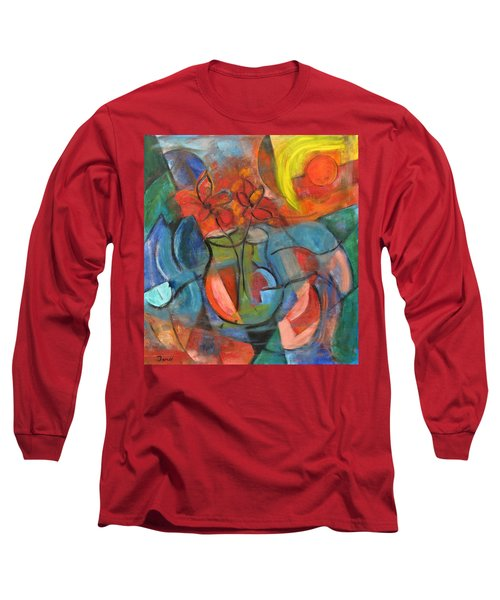 Still Life-flowers With Fruit Long Sleeve T-Shirt